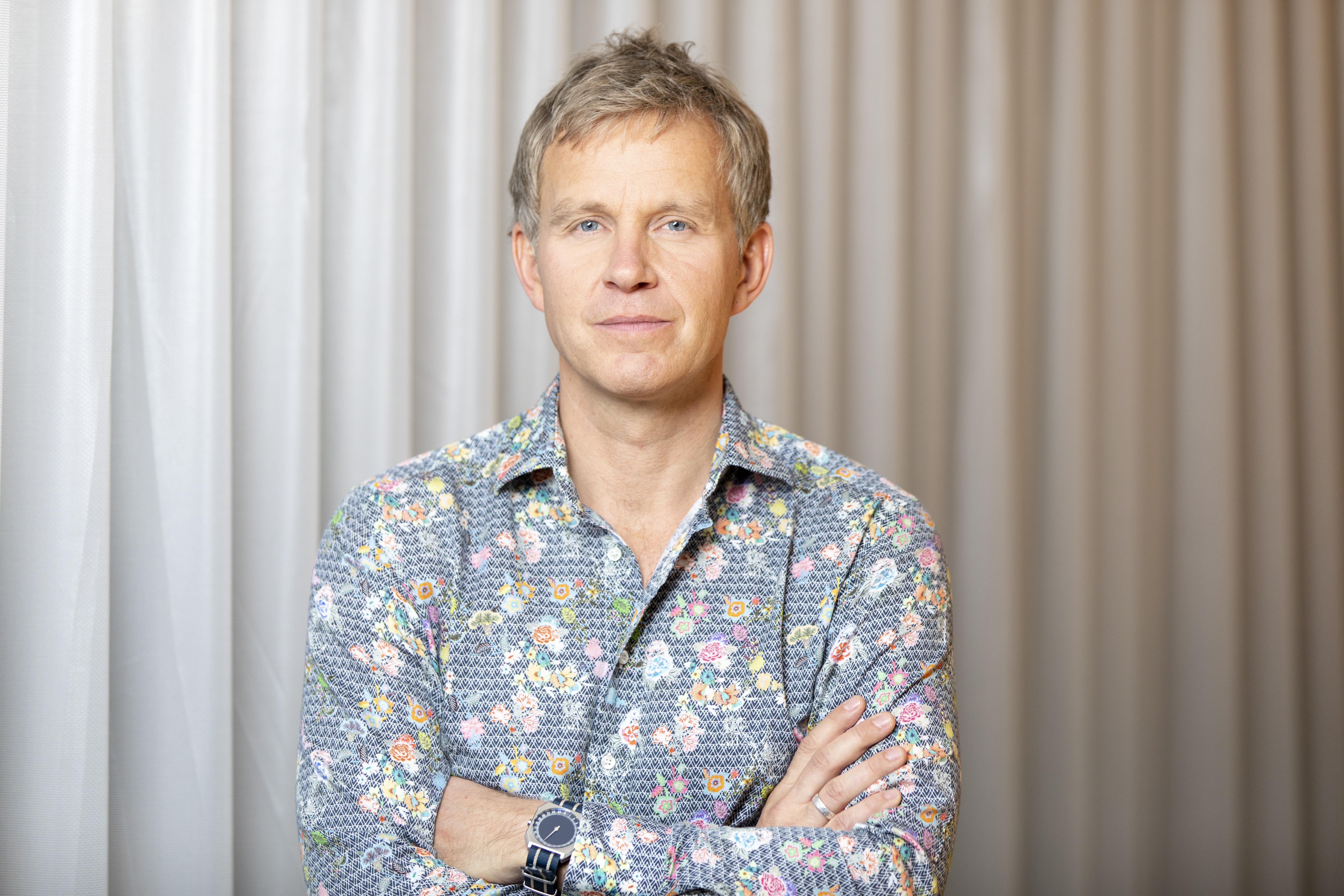 Joachim Simon in einem seiner Lieblingshemden